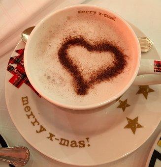 Christmas, Capuccino, Coffee, Cup, Jar, Merry Christmas