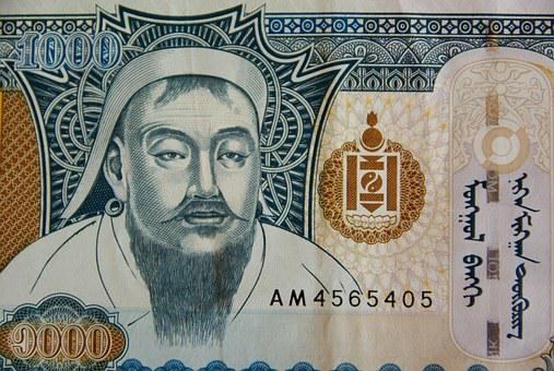 Money, Genghis Khan, Ticket, Currency, Mongolia, Tugrik