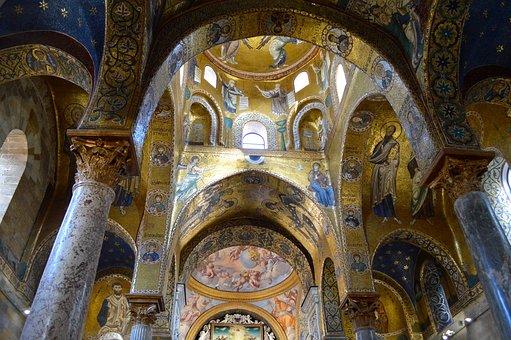 Palermo, Martorana Church, Mosaics, Byzantine
