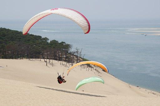 Paragliding, Mountain, Paraglider, Fly, Freedom, Sky