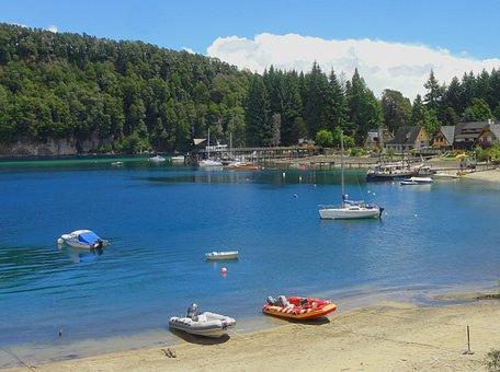 Villa La Angostura, Neuquen, Argentina, Lake, Boats