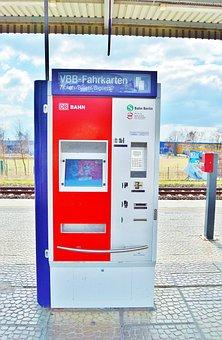 Ticket Machine, Railway Station, Platform, Rail Traffic