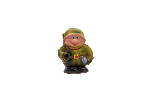 Soldier, Toy, Rubber Soldiers, Green, Cheerful