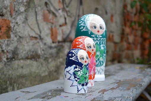 Matrioska, Figurines, Russian, Toy, Souvenir
