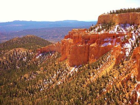 Bryce Canyon, Snow, Bryce, Canyon, Park, Utah, Usa