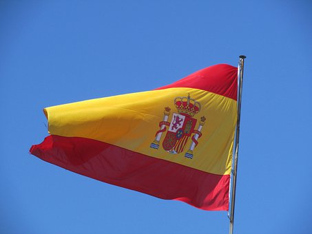 Flag, Spain, Sky, Wind, Holiday, Fluttering, Spanish