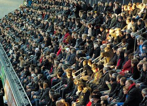 Stadium, Tribune, Spectators, Crowd