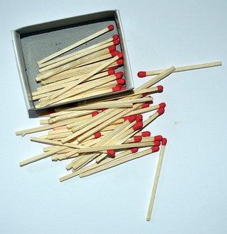 Matches, Fire, Making Fire, Stick, Wood
