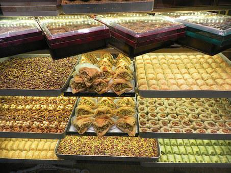 Turkey, Grand Bazaar, Turkish Sweets, Pastry, Sweets