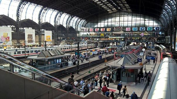 Hamburg, Train Station, Transportation, Station