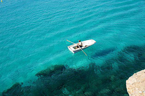 Sea, Water, Fisherman, Boat, Turquoise, Colors, Summer