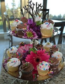 Cupcake, Desert, Wedding Cupcake