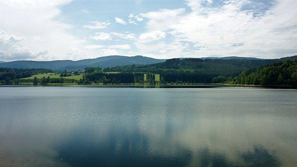 Nýrsko Dam, Czech Republic, šumava, Water, Landscape
