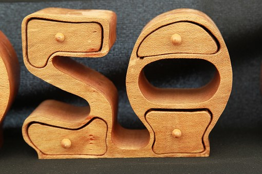 Number, 50, Fifty, Wooden, Wood, Arabic, Indo-arabic