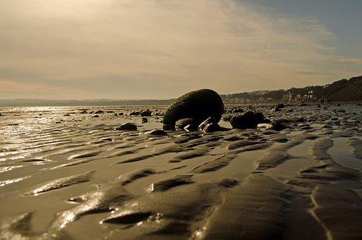 Beach, Background, Sand, Water, Sea, Tide, Season
