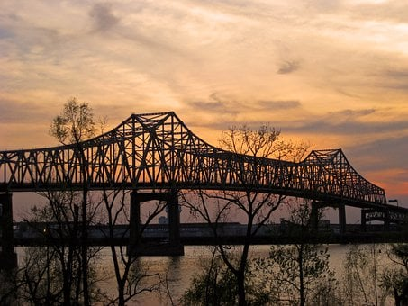 Bridge, Mississippi River, Baton Rouge, Louisiana
