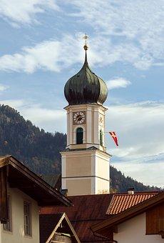 Bell Tower, Oberammergau, Bavaria, Germany