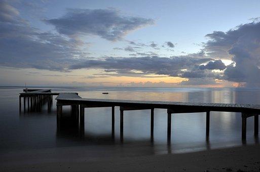 Beach, Sunset, Sunset Beach, Pontoon, Beach Sunset
