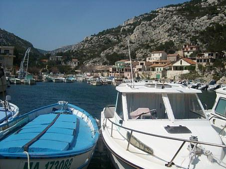 Camargue, Boat, Port, Mediterranean, France, Sea