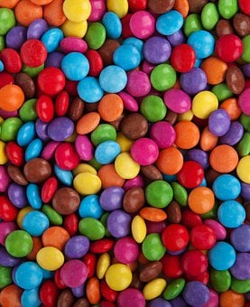 Background, Button, Candy, Chocolate, Coated, Color