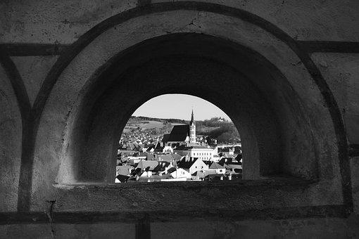 Czech Krumlov, Church, Czech Republic, Vista, City