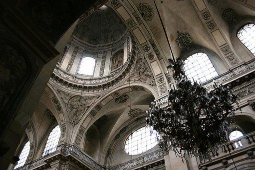 Church Saint Paul, Dome Of Church, Paris