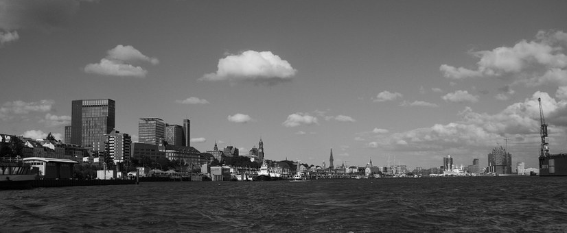 Hamburg Port, Hamburg Skyline, Port, Elbe
