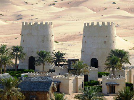 Tower, Desert, Fortress, Oasis, Fort, Emirates
