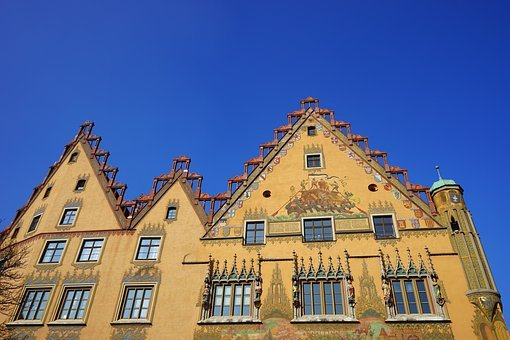 Town Hall, Ulm, Home, Building, Facade, Yellow