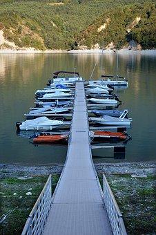 Pontoon, Wharf, Boat, Lake, France