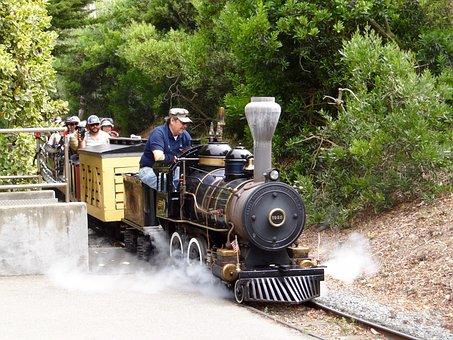 Train, Little Train, Park, Walk, Holiday