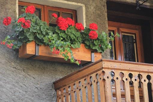 Chalet, Balcony, House, Switzerland, Traditional, Home