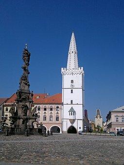 Bohemia, Kadaň, Town Hall, White, Square, City