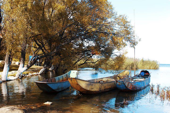 Erhai Lake, In Yunnan Province, Kunming, Sea, Blue Sky