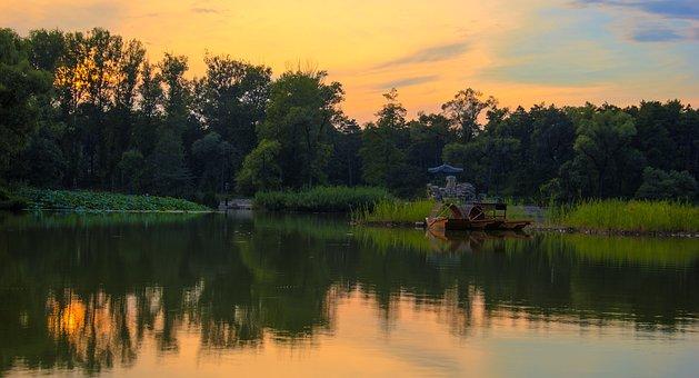 Chengde, Mountain Resort, Lake At Dusk
