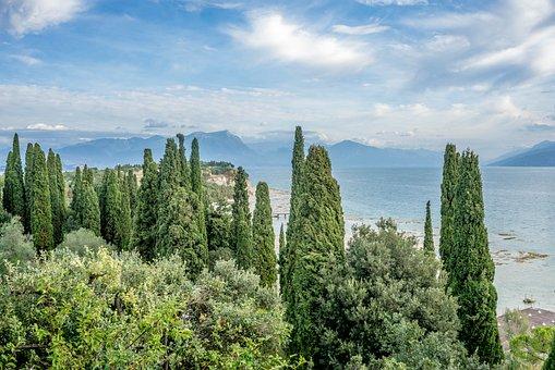Lake Garda, Sirmione, Nature, Water, Beach, Travel