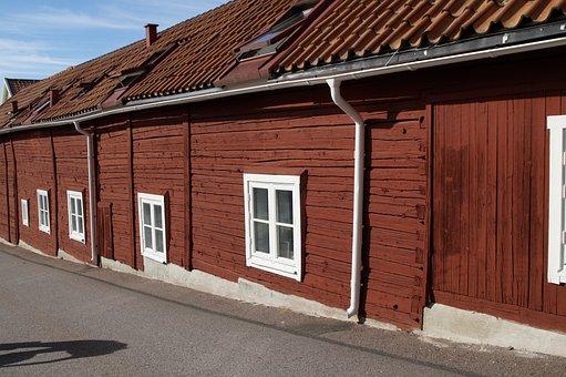 Facade, Home, Live, Sweden, Grenna, Building, Low