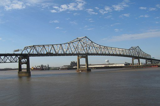 Mississippi River Bridge, Bridge, Louisiana