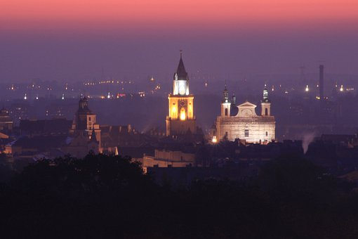 Lublin, Panorama, City, Cracow Gate, The Cathedral