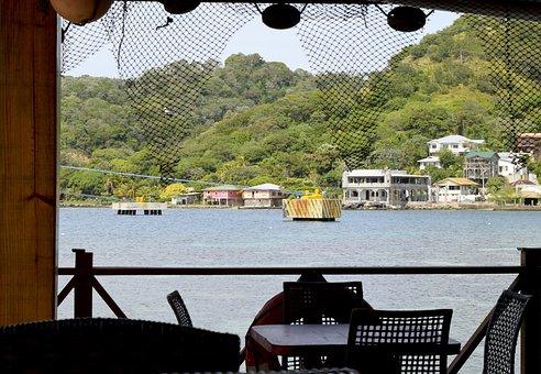 Roatan, Honduras, Outdoor, Dining, Mountains, Caribbean