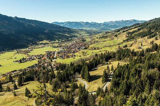 Ostrachtal, Bad Hindelang, Allgäu, Place, Village