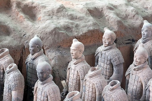 China, Terracotta Army, Xian, Places Of Interest, Human