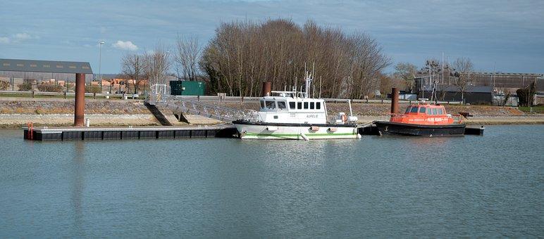 Port, Boat, Wharf, Sea, France, Pontoon, Honfleur