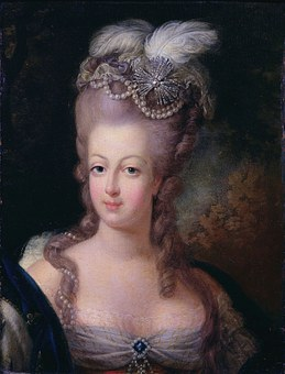 Queen, Marie Antoinette, Woman, Painting, Headdress
