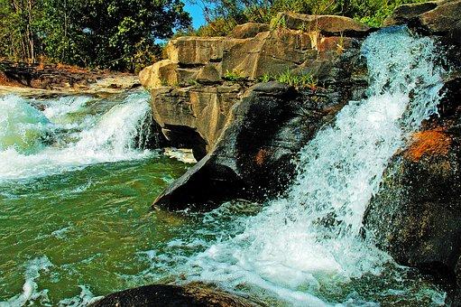 River Landscape, Waterfall, Doi Inthanon, Thailand