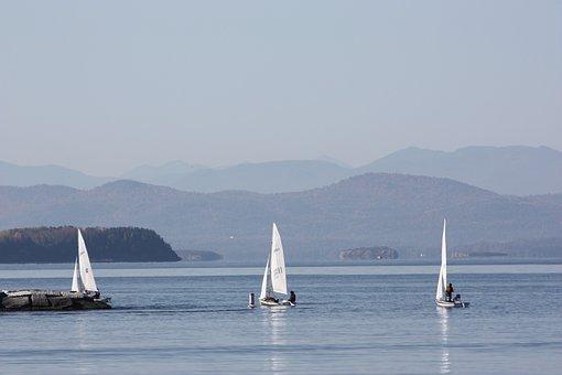 Lake Champlain, Sailboats, Adirondacks, Boat, Ship