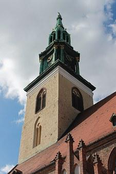 Church, Sky, Steeple, Berlin, St Mary's Church, Germany