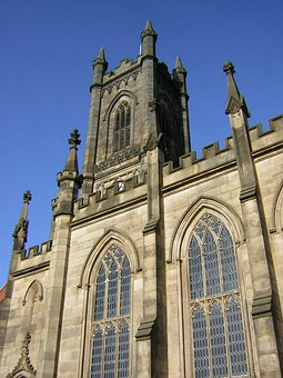 Oldham, England, Great Britain, St Mary's, Church