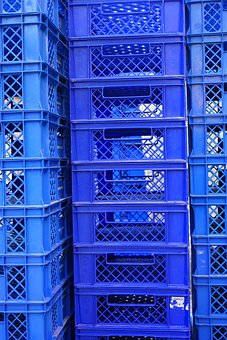 Boxes, Stack Boxes, Stacking Boxes, Blue, Stacked