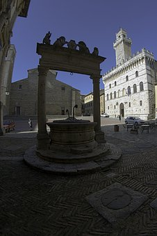 Cathedral, Montepulciano, Well, Main Square, Town Hall